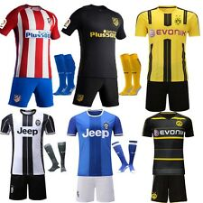 Jersey Football Soccer Club Home/Away Kit Kids Boys Short Sleeve 2-13 Yrs+Socks