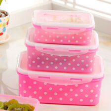 4Pcs/set Food Storage Boxes Case Buckle Crisper Refrigerator Microwave Lunch Box