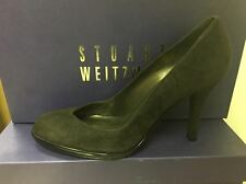 Stuart Weitzman Womens Alto Cola Brown Suede Leather Pump NARROW
