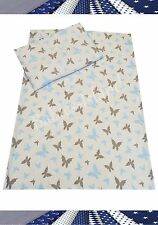 Bedding set cot/cot bed/Toddler/ Single bed 100% cotton Grey-Blue Butterflies