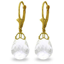 14K Gold White Topaz  Chandelier Earrings Real Gemstone Retail $952