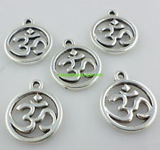 "20/200pcs Tibetan silver Crafts Faith ""Om"" Charms Pendants 18x21mm"
