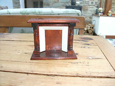 Dolls House Miniature 1:12th Scale Dark Wood Fireplace Victorian Antique Style