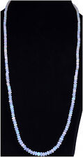 "32"" Inches White Opal Gemstone Round Cabochon Bead String-NS1320"
