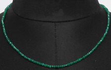 Green Onyx Gemstone Faceted Bead Necklace-NS1434