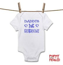 Daddy's First Father's Day, Baby Bodysuit, Baby Grow Body Suit Vest Sleepsuit