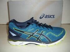 ASICS MENS GEL-KAYANO 23 RUNNING SNEAKERS-SHOES-T646N-4907- THUNDER BLUE/ YELLOW