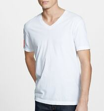 James Perse Men's Short Sleeve V Neck Tee Relaxed Fit White USA $60 msrp NWT