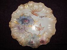 Victorian Doulton Burslem handpainted & Gilt Floral Plate Late 19th Century