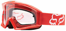 NEW 2016 FOX RACING MAIN OFFROAD MOTOCROSS MX ADULT GOGGLES RED/CLEAR