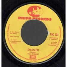 "DAVE COLLINS Shackatac 7"" VINYL UK Rhino 1972 B/W Smooths And Sorts (Rno103) No"