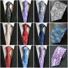 Mens Classic100% Silk Paisley Tie JACQUARD WOVEN Necktie Wedding Formal Ties New