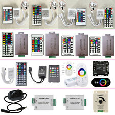 Wireless IR RF Amplifiers Dimmer RGB LED Controller for 3528 5050 Strip Lights