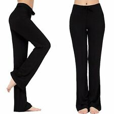 WOMENS YOGA ATHLETIC GYM CASUAL COMFY STRETCHY FOLDOVER LOUNGE PANTS S-3XL S587
