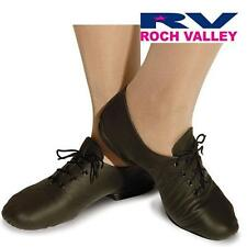 Roch Valley AJS/R Full rubber sole jazz shoes - Black leather uppers