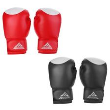 PU Leather Boxing Gloves Sparring Punch Bag Muay Thai Kickboxing Training MMA
