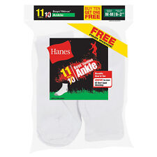 422/11 Hanes EZ-Sort Boys Ankle Socks 11-Pack (Includes 1 Free Bonus Pair)