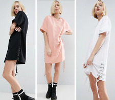 Fashion Sexy Womens Loose Cotton Short Sleeve Casual Party Mini Dress Summer New