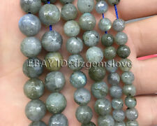 Natural Labradorite Gemstone Beads Round Loose Faceted Beads 4mm 6mm 8mm 10mm