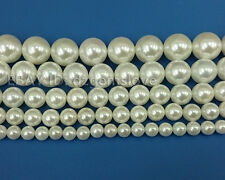 Natural White Shell Gemstone Bead Round Loose Spacer Bead 6mm 8mm 10mm 12mm 14mm