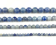 Natural Gemstone Blue Aventurine Faceted Beads Round Loose Bead 4mm 6mm 8mm 10mm