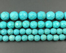 Green Turquoise Gemstone Beads Faceted Beads Round Beads 6mm 8mm 10mm 12mm 15''