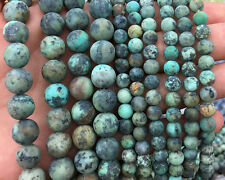 Natural Gemstone African Turquoise Matte Bead Green Round Bead 6mm 8mm 10mm 12mm