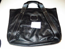 Authentic Gucci Becon Black Soft Leather Tote/Shopper. Made in Italy