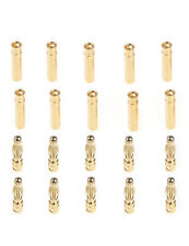 20Pairs 2/3.5/4mm Gold Metal Banana Bullet Plug Connector Male Female RC Battery