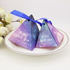 50 Starry Sky Triangle Candy Sweet Boxes Wedding Festival Party Favor Décor