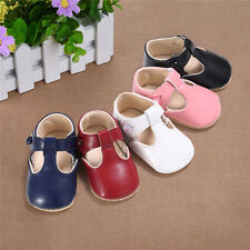 New Soft Sole Leather Baby Infant Toddler Girls Princess Shoes Prewalkers 0-18M