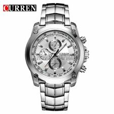 Luxury Men's Stainless Steel Band Fashion Business Analog Quartz Wrist Watch