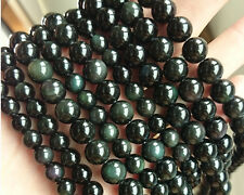 Natural Gemstone Rainbow Obsidian Beads Round Loose Stone Beads 6,8,10,12mm 15''