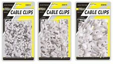 CABLE CLIPS WIRE CLIPS ROUND 3MM 9MM 12MM WHITE CABLE MANAGEMENT WIRE TIDY