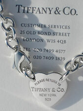 Tiffany & Co Return To Tiffany Sterling Silver Heart Tag Choker Necklace