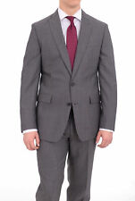 Ryan Seacrest Slim Fit Gray Check Two Button Wool Suit With Peak Lapels