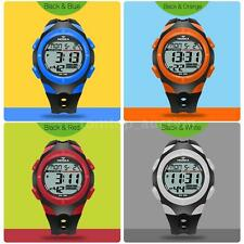 Children LED Digital Sport Date Day Alarm Backlight Wrist watch HOSKA H012S F3D7