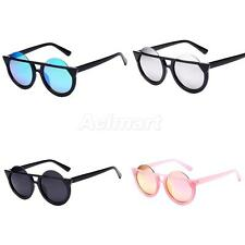 Men /Women Vintage Retro Cat Eye Round Sunglasses Mirrored Half Rimmed Frames