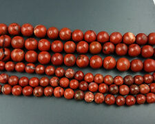 Natural Red Jasper Gemstone Beads Round Loose Semi Precious Beads 6,8,10,12mm