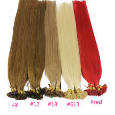 1g/s 100g Straight Capsule Keratin Nail or U tip Human Hair Extensions