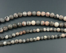Natural Gemstone Zebra Jasper Beads Round Loose Stone Beads Pink 6mm 8mm 10mm