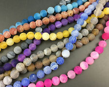 Wholesale Natural Gemstone Beads Agate Matte Beads Round Loose Beads 8mm 10mm