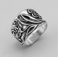 Modern Hand Crafted 925 Sterling Silver SHABLOOL Ring nature