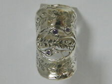 Fine Sterling Silver 925 Ring Amethyst CZ Purple finger Ring
