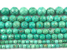 Natural Green Howlite Gemstone Beads Round Loose Faceted Beads 4,6,8,10,12mm