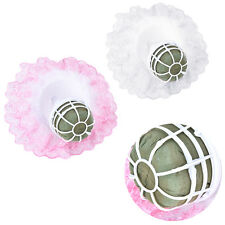 Bouquet Handle Holder + White Lace Collar for Bridal Floral Wedding Flower SU