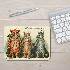 "Louis Wain Cats Don't Worry Mouse Pad 8"" Round or 9.25"" x 7.75"" Rectangular"