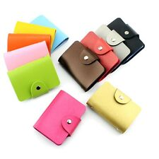 Leather Business ID Credit Card Holder Handbag Purse Storage Case Pocket Gifts
