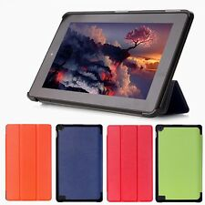 Folio Leather Stand Cover Case For Amazon Kindle 7 2015 Tablet Fire HD Folding