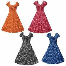 Womens Swing Dress 50s 60s Retro PinUp Rockabilly Housewife Party Ball Plus Size